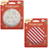 Printed Festive Cupcake Cases 60 Pack