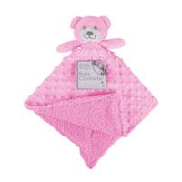 Baby Comforter Pink Teddy
