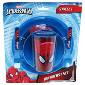 Spiderman Breakfast/Tableware Set 5 Piece