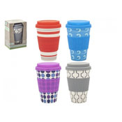 Assorted Bamboo Fibre Travel Mug