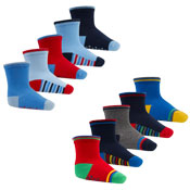 5 Pairs Baby Socks With Grip