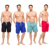 Mens Plain Assorted Swim Shorts