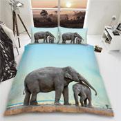 Elephant Reversible Duvet Set