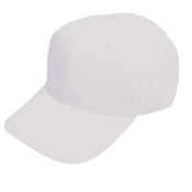 6 Panel Baseball Cap White