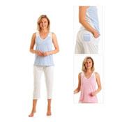 Ladies Vest Top Cropped Pyjamas