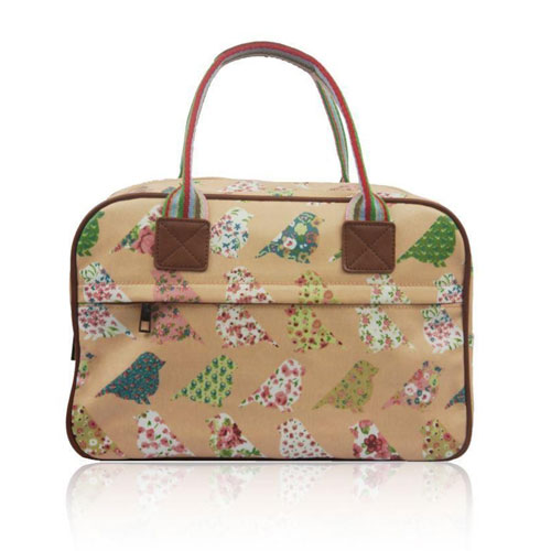 Birds And Flowers Day Bag Pink