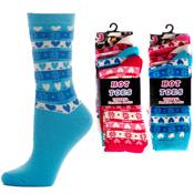 Hot Toes Thermal Fashion Snowflake Socks