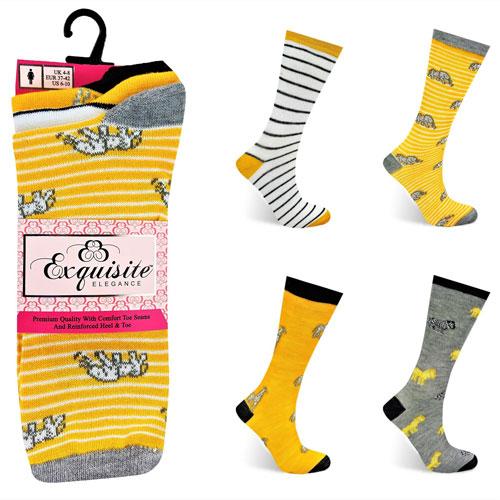 Ladies Exquisite Computer Socks Animal Stripe