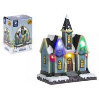 Miniature Resin Light Up Church