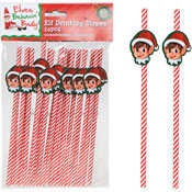 Christmas Elf Drinking Straws