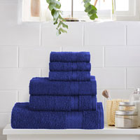 6 Piece Luxury Towel Bale Set Royal Blue