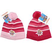 Official Girls Paw Patrol Pink Knitted Bobble Hat