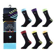 Socksation Mens Luxury Suit Socks Heal Stripes