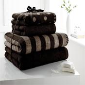 4 Piece Towel Bale Black