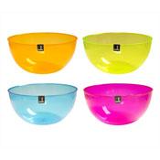 Plastic Salad Bowl Mixed Colours