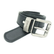Leather Lined Belt Wide with Logo