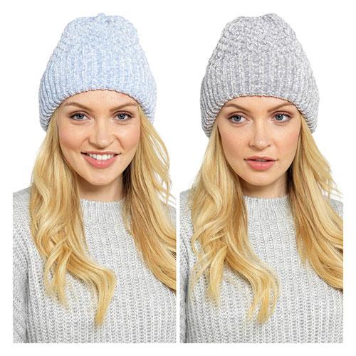 Ladies Chenille Textured Hat