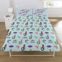 Emoji Unicorn & Mermaid Reversible Duvet Set