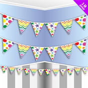 Party Bunting Rainbow