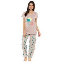 Ladies Palm Print Pyjama Set