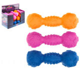 Squeaking Dumbell Dog Toy