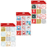 Christmas 3D Self Adhesive Gift Tags 24 Pack