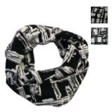 Ladies Abstract Print Jersey Snood
