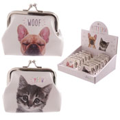 Ladies Cat & Dog Tic Tac Purse