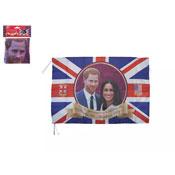 Royal Wedding Rayon Flag With String