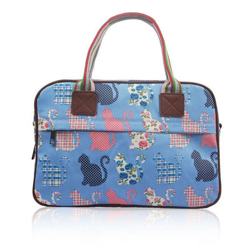 Kitty Day Canvas Weekend Bag Blue