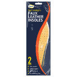 Faux Leather Insoles 2 Pairs