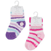 Baby Girls Cosy Socks With Grippers