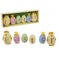 Polyfoam Easter Egg Text Decoration Set