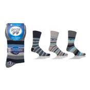 Mens Gentle Grip Socks Mixed Stripes