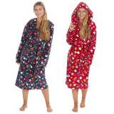 Unisex Christmas Print Fleece Gown