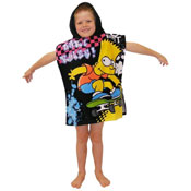 Bart Simpson Surfin Towel Poncho
