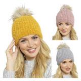 Ladies Chenille Pom Pom Hat