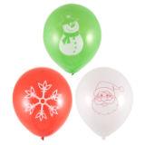Christmas Print Balloons 12 Pack