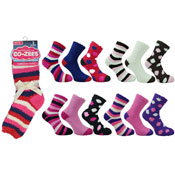 Ladies CoZee Slipper Socks Dark Colours