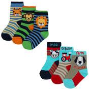 Baby Novelty Design Socks Animals/Cars