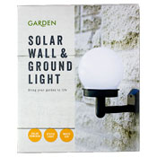 Solar Powered Wall & Ground Light