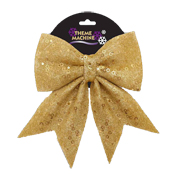 25CM Glitter Sequin Bow Gold