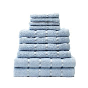 10 Piece Towel Bale Aqua Egyptian Cotton