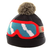 Childrens Ski Hat with Goggle Print