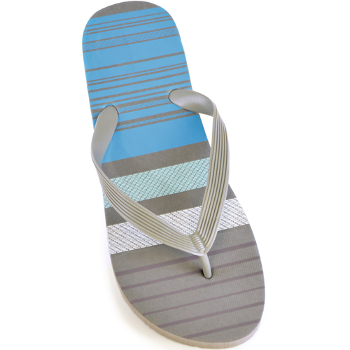 Mens Broad Stripe Flip Flops