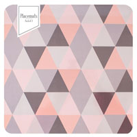 Geo Pink Grey Placemats 2 Pack