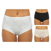 Ladies Floral Lace Front Briefs