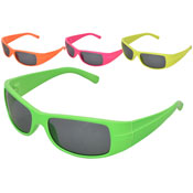 Kids Plastic Neon Colour Sports Sunglasses
