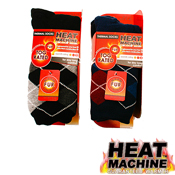 Mens Heat Machine Argyle Slipper Socks