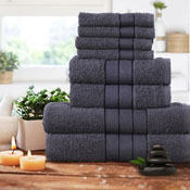 Luxurious 8 Piece Towel Bale Set Charcoal